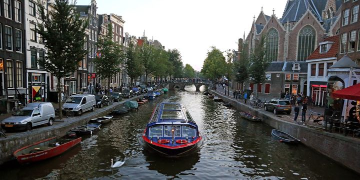 photo of canal, Amsterdam