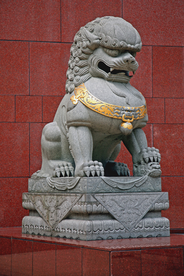 Travel Photography Asia - Statue of Chinese Lion, China