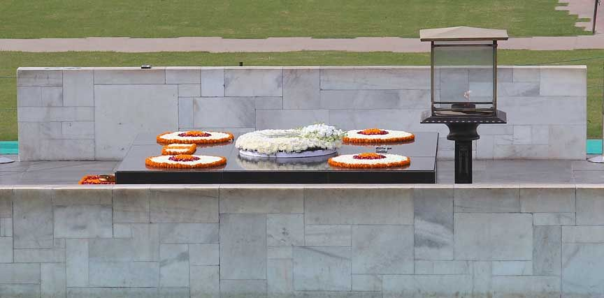 photo of Mohandus Ghandi Tomb, India