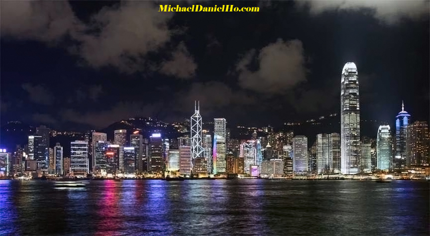 photo of Hong Kong skyline at night